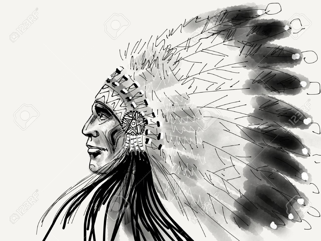 Indianerhäuptling Lizenzfreie Fotos, Bilder Und Stock Fotografie. Image  60825561.