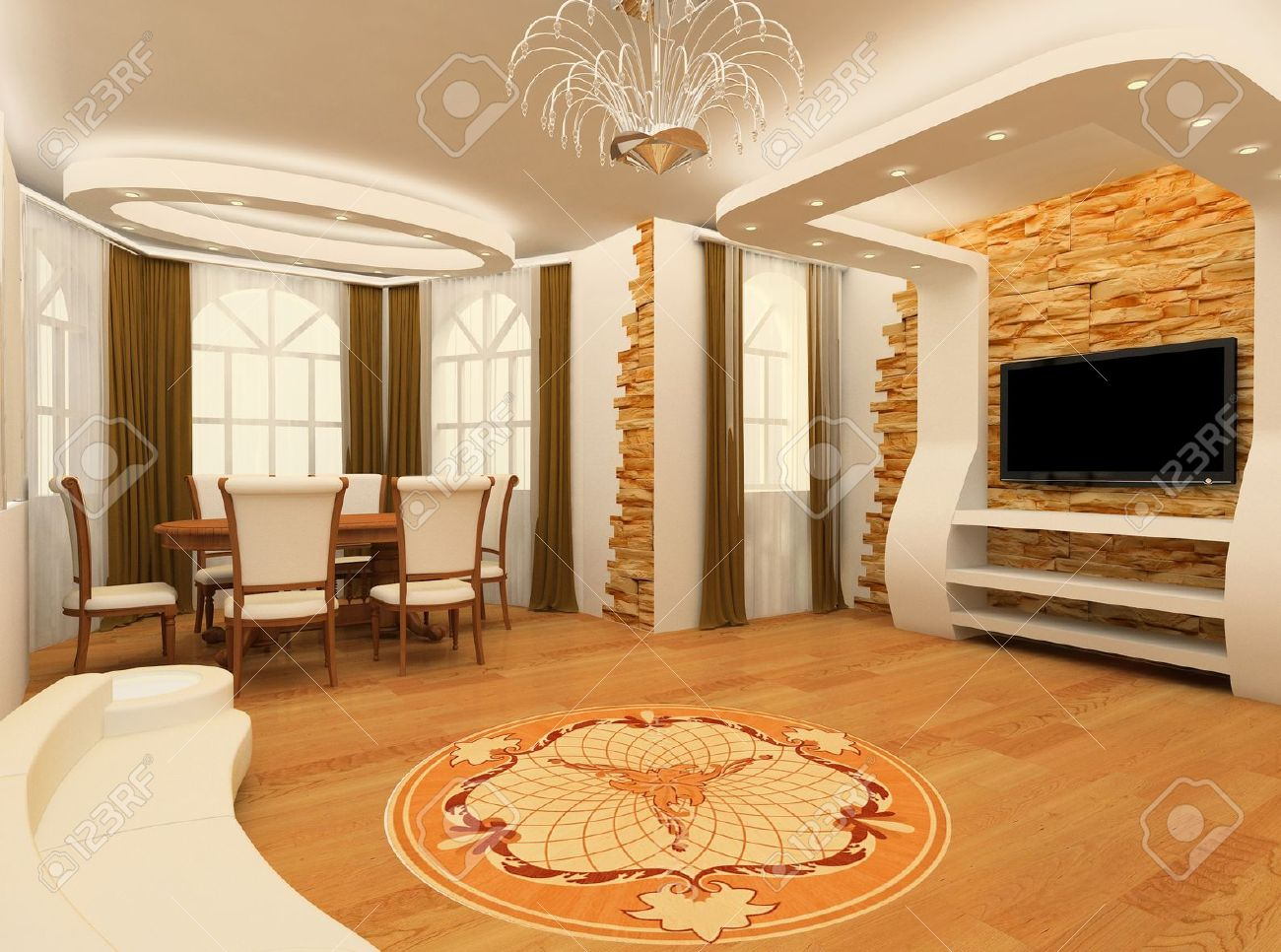Decorative Ornament With Laminated Flooring Board Nd Brick