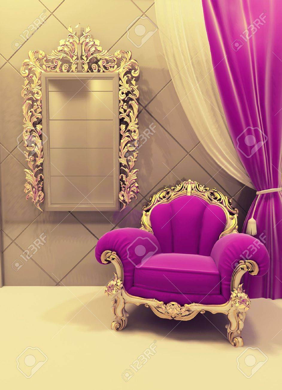 Royal  furniture in a luxurious interior Stock Photo - 10099629