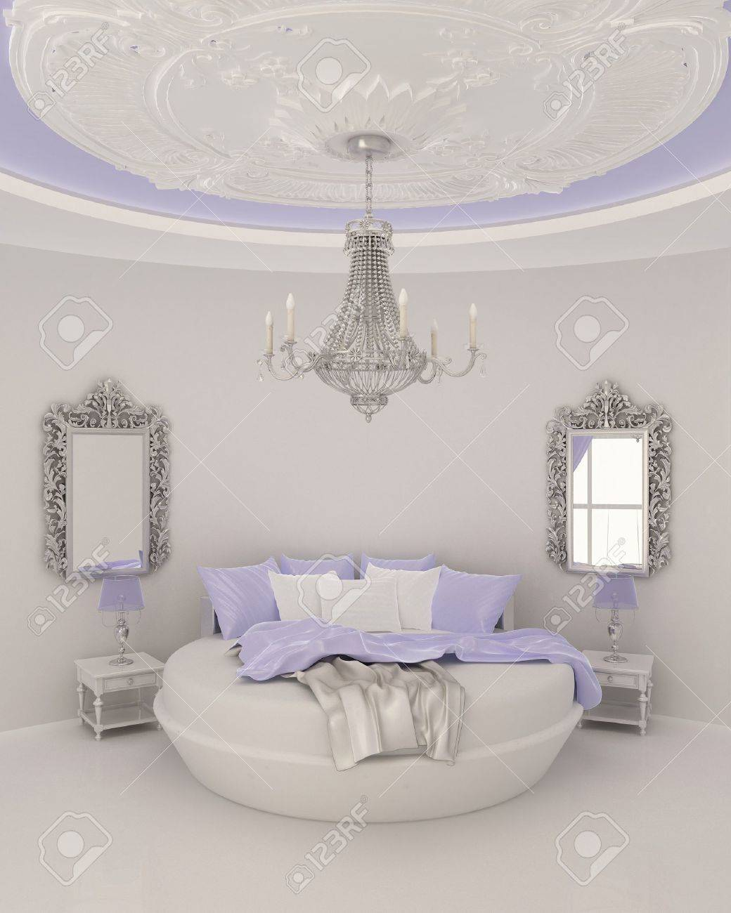 ceiling decor in modern bedroom Stock Photo - 10300765