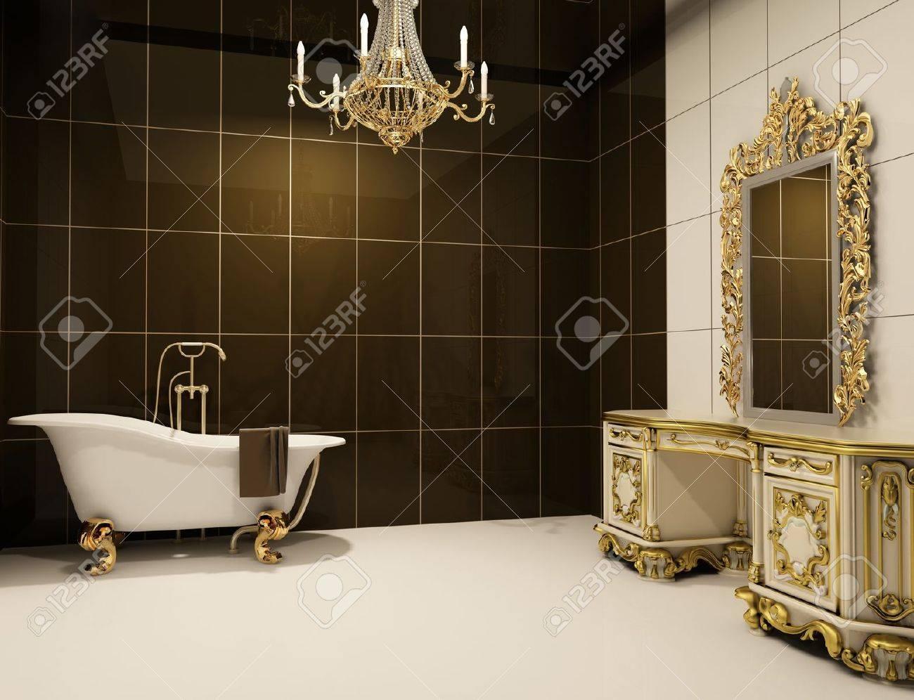 Baroque furniture in bathroom Stock Photo - 10300740