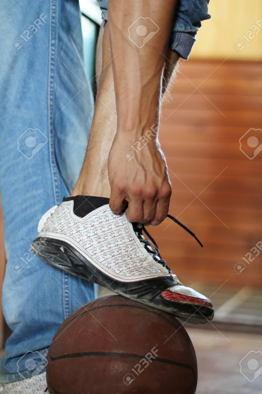 Start Men jeans sport foot.  Lifestyle. shoes Stock Photo - 10365994