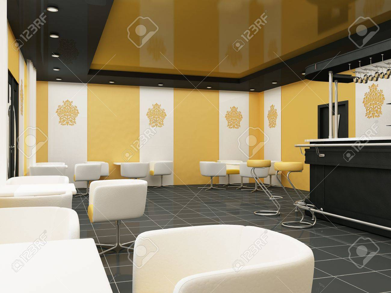 Interior Of Restaurant Modern Bar Comfortable Cafe Stock Photo Picture And Royalty Free Image Image 10468573