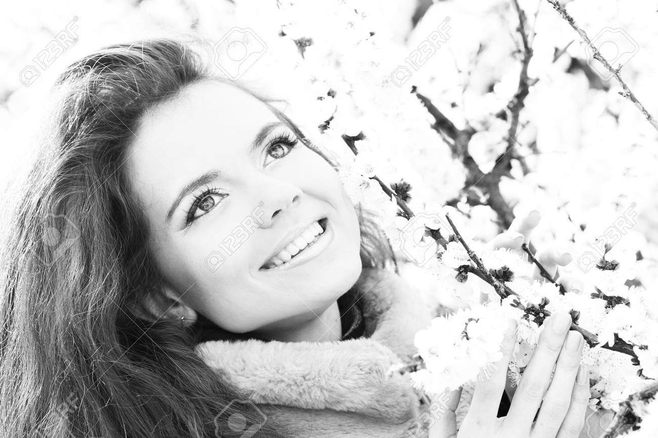 Attractive happy smiling woman portrait, black and white Stock Photo - 13157575