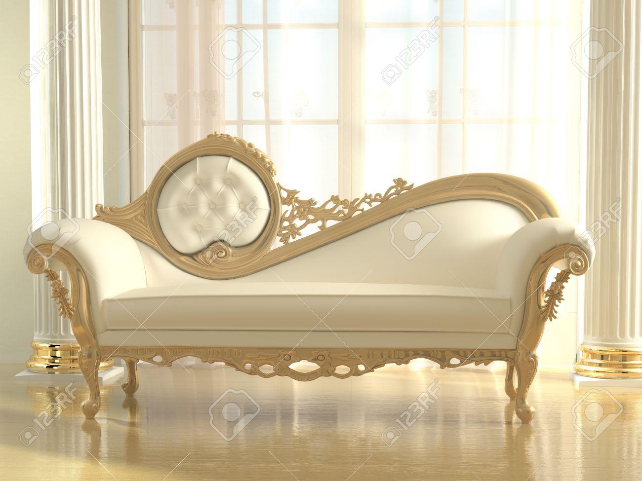 Luxurious Sofa In Modern Interior Apartment Stock Photo   14677904