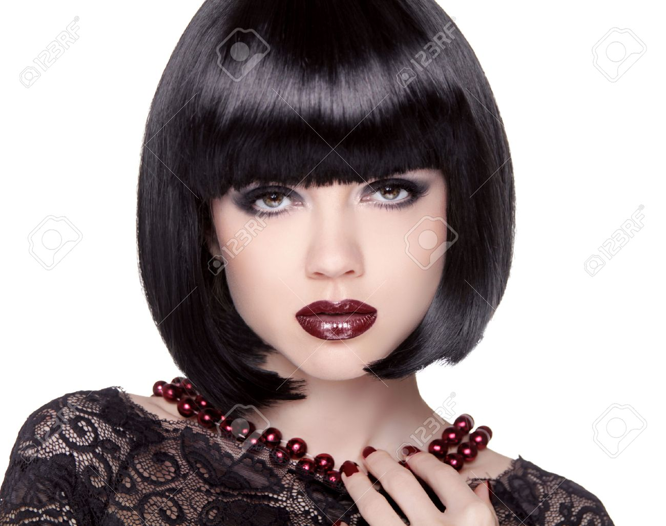 Black Bob Hair Style by wearticles.com