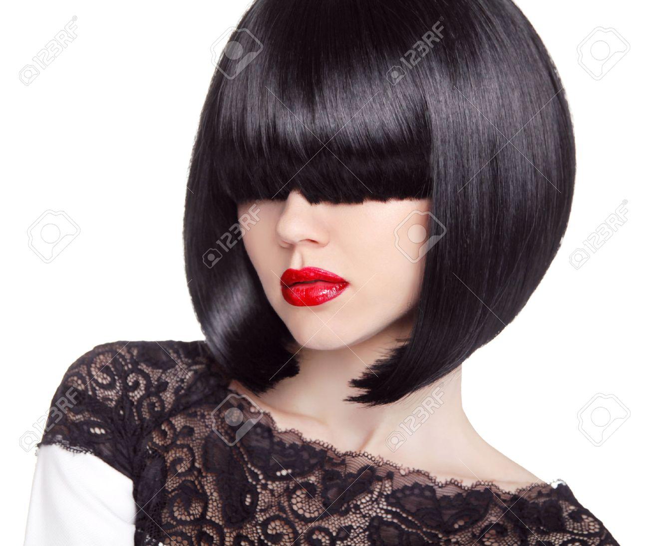 Fashion Bob Haircut Hairstyle Long Fringe Short Hair Style - Short hair bob girl