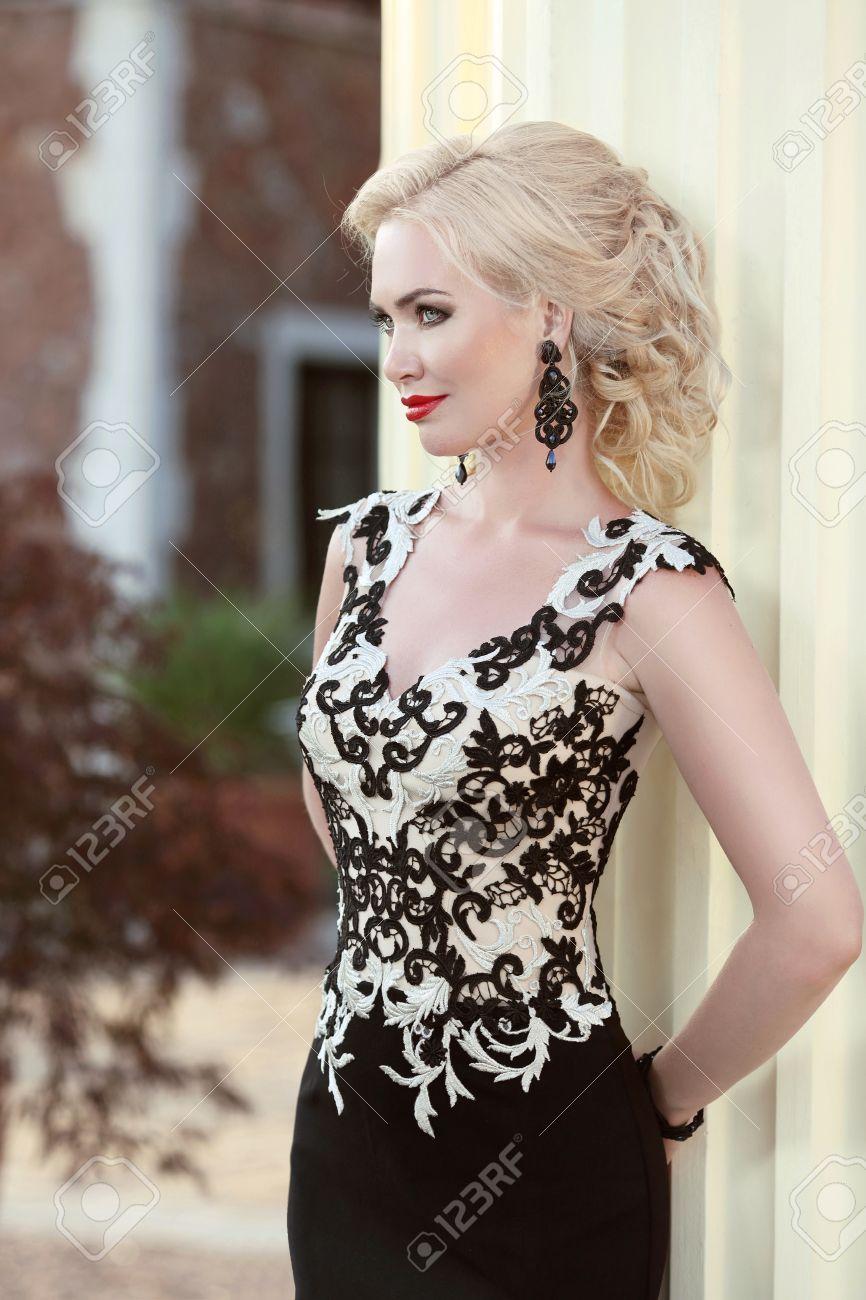Maquillaje y peinado para vestido largo negro