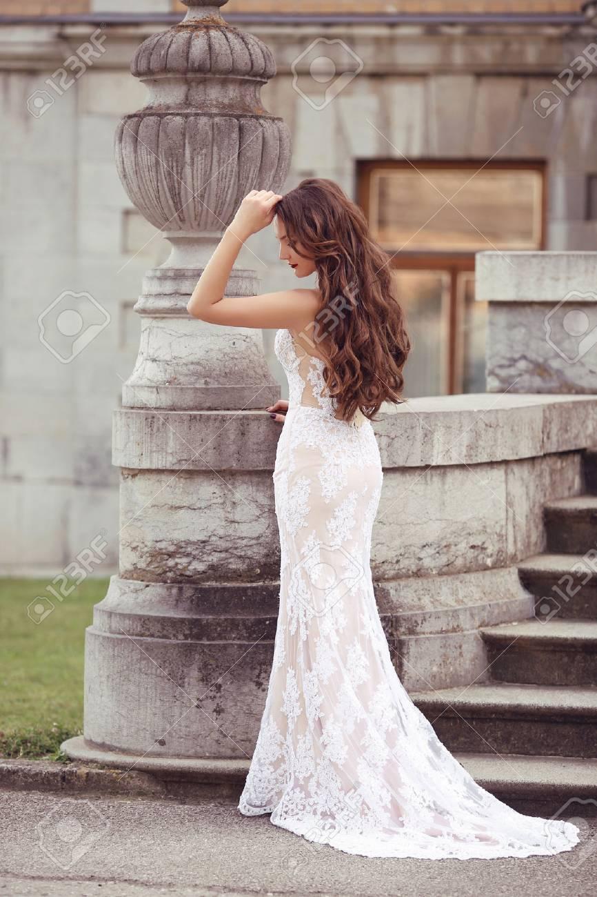 Elegante Brautfrau Hochzeit Portrat Mode Stil Foto Art Und Weise