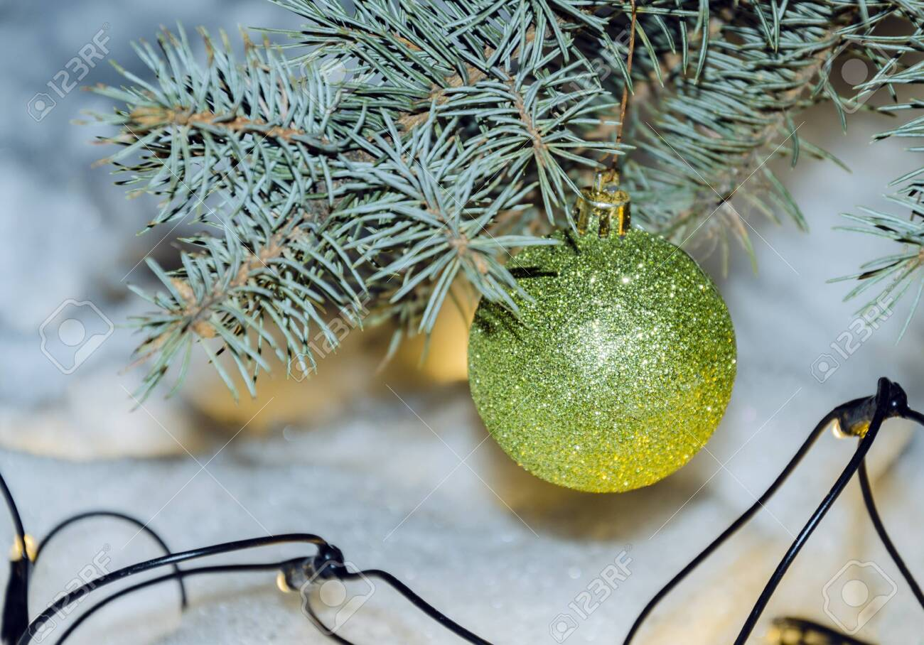 Balls Of Bright Color Beautiful Decoration On The Christmas Stock Photo Picture And Royalty Free Image Image 140370779