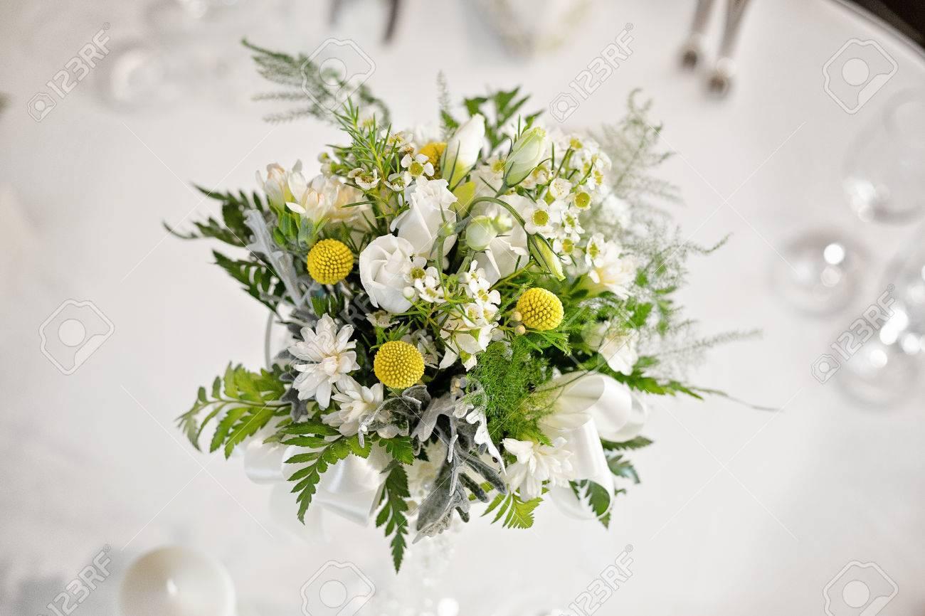 Wedding Table Flower Centerpiece, Wild, Field Flowers. View From ...