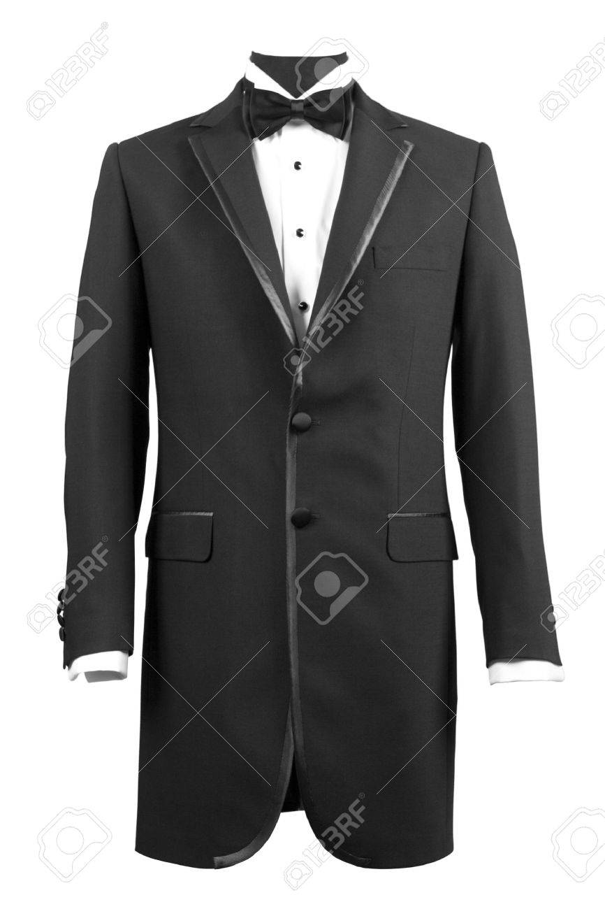 front view of black tuxedo and white shirt Stock Photo - 6965030