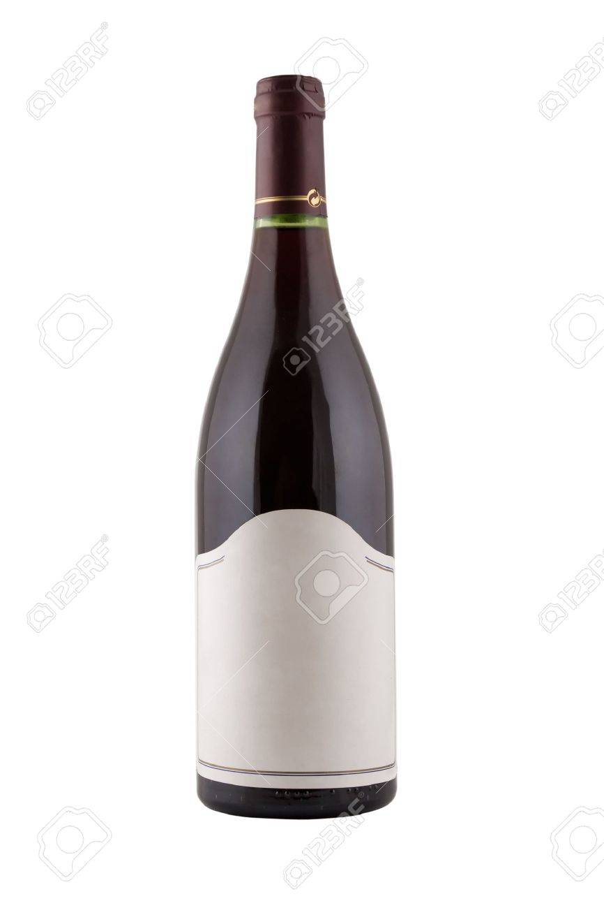 isolated green bottle for wine with blank tag Stock Photo - 7543376
