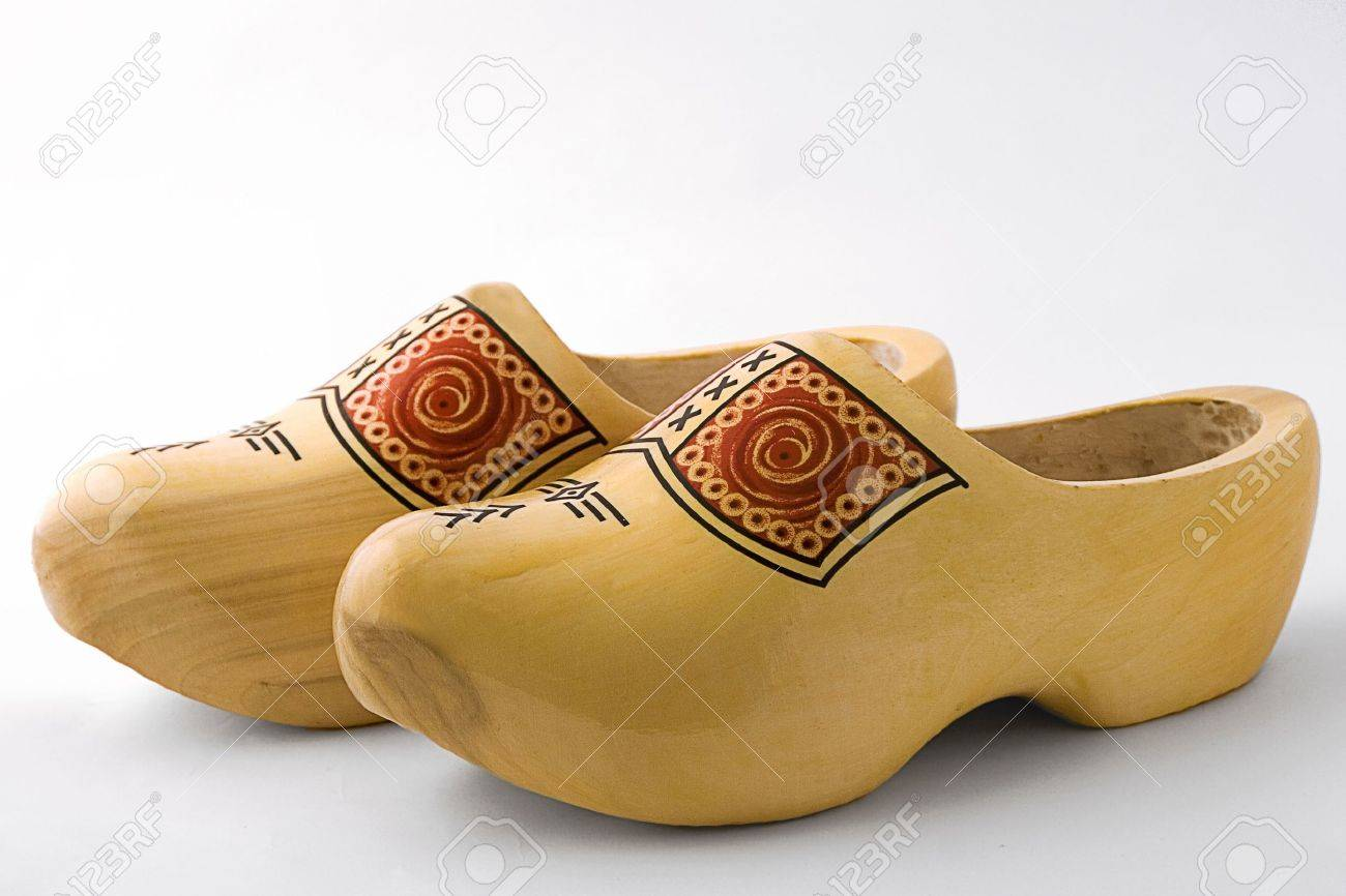 a pair of wooden dutch shoes stock photo picture and royalty free