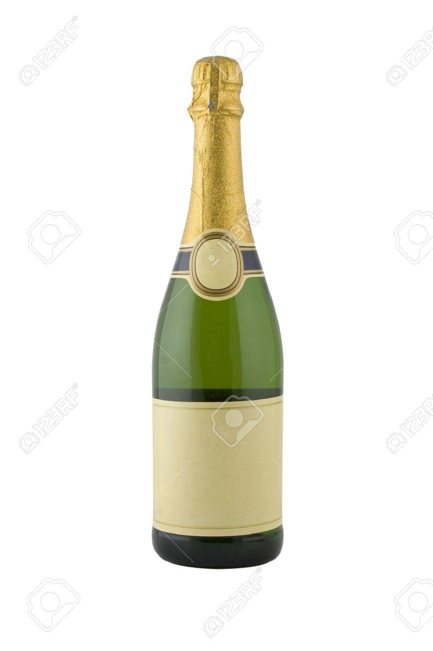 front view of green bottle of champagne Stock Photo - 8183946