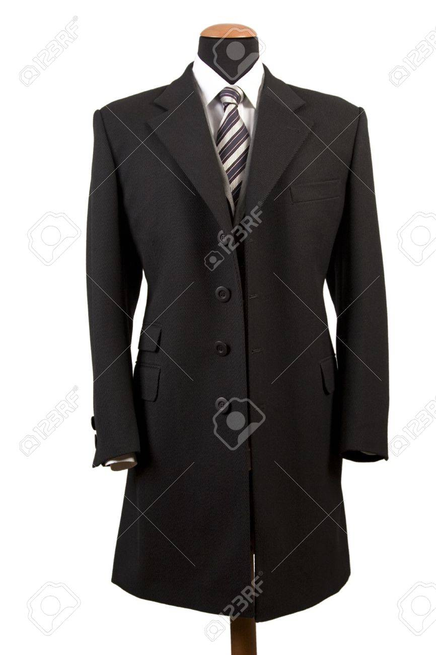 front view of elegant black suit, business fashion Stock Photo - 8288568