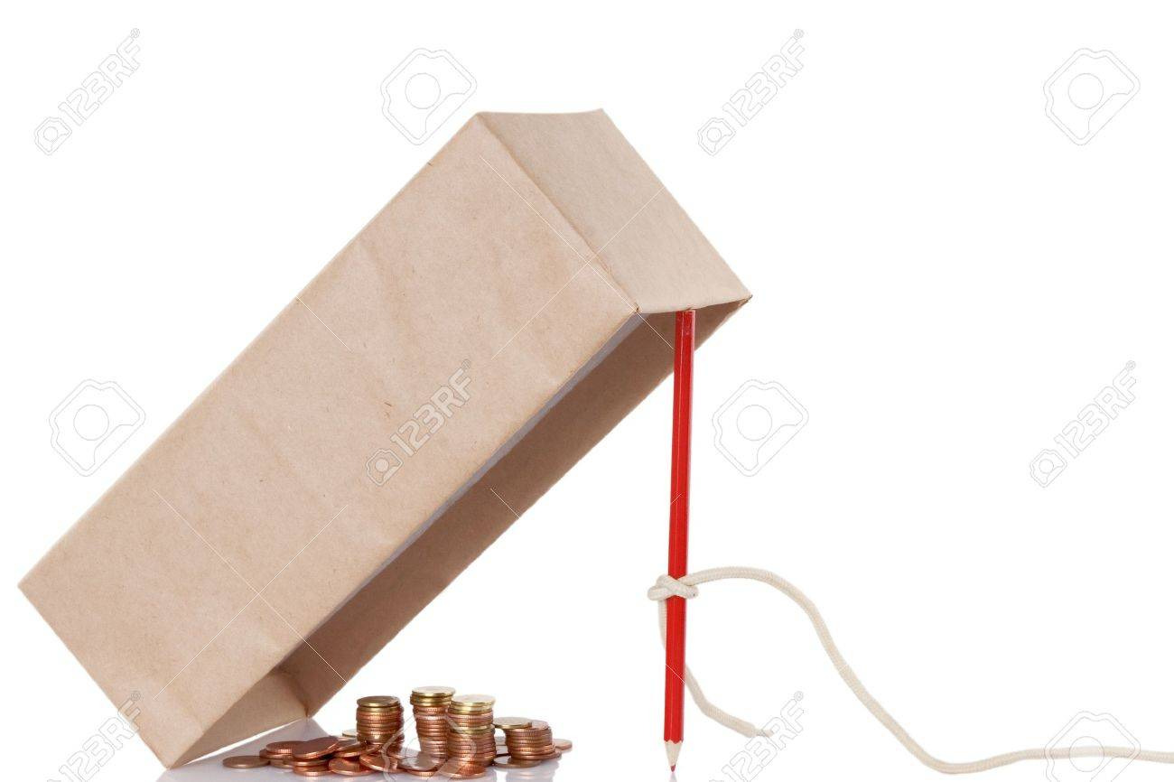 Money trap isolated on white background, fraud concept Stock Photo - 9463564