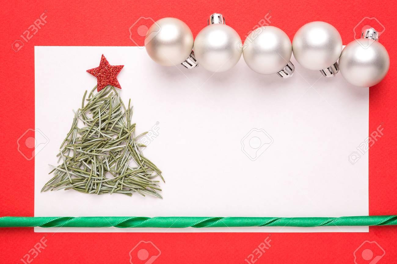 Carte De Noël Blank Ou Invitation Avec Arbre De Noël Fait à Partir