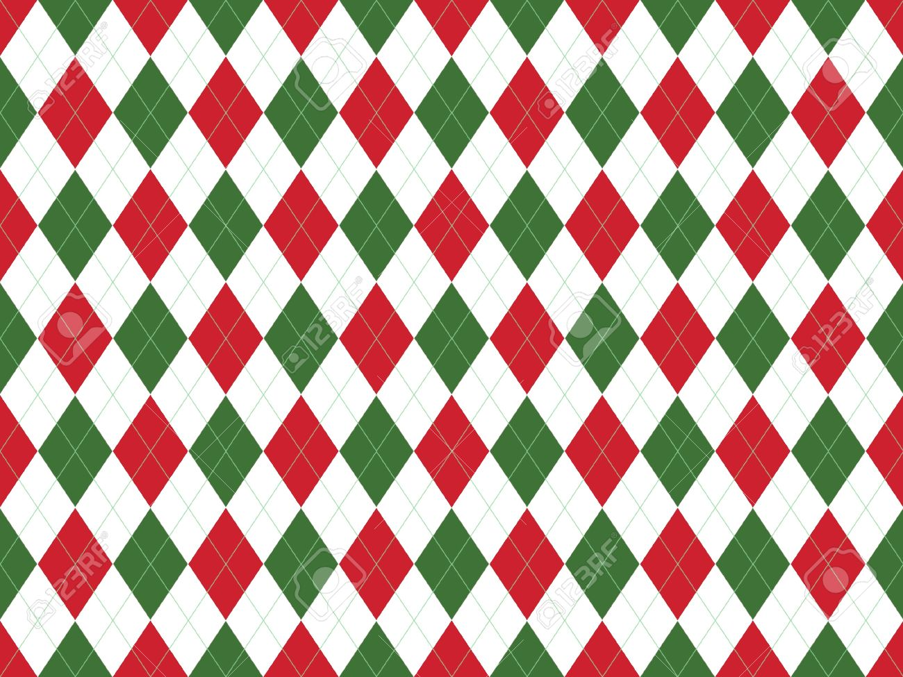 Pics photos merry christmas argyle twitter backgrounds - Christmas Seamless Argyle Pattern In Green And Red Rhombuses Stock Photo 8802038