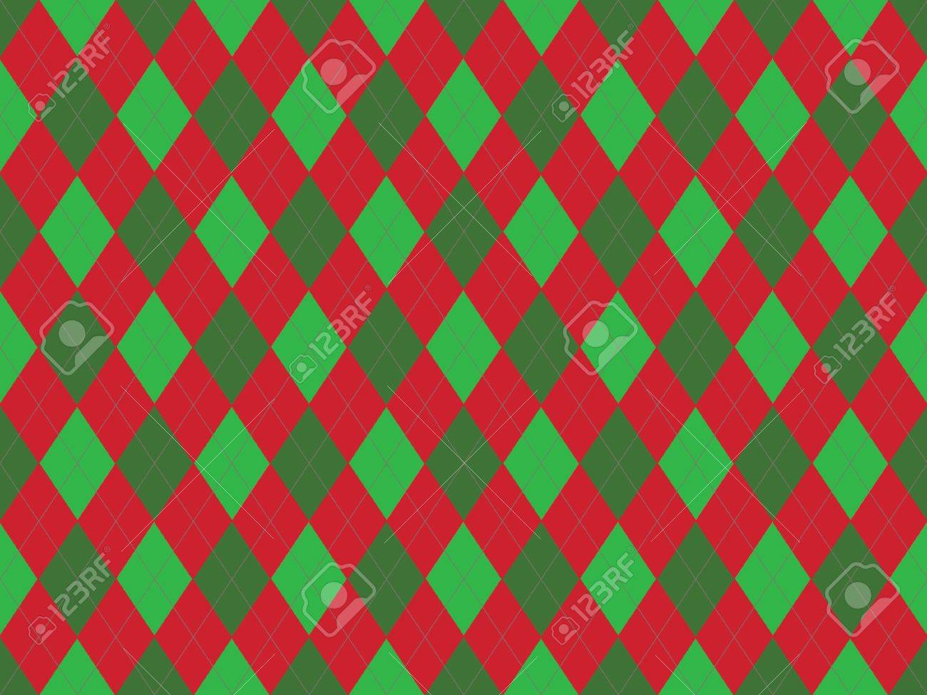 Pics photos merry christmas argyle twitter backgrounds - Christmas Seamless Argyle Pattern In Green And Red Rhombuses Stock Photo 8802028