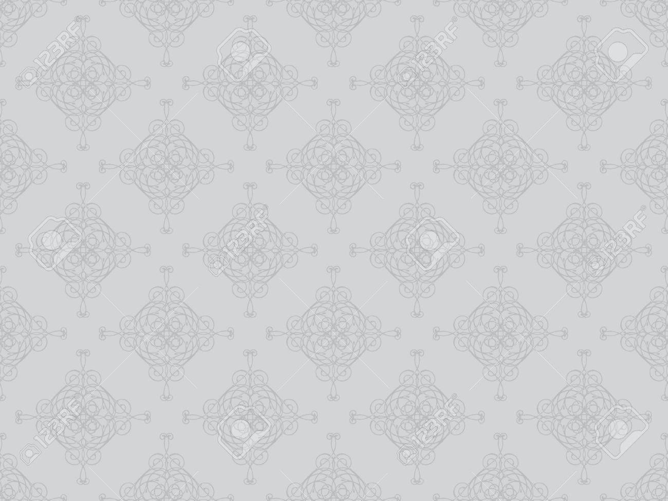 Grey damask seamless wallpaper pattern Stock Photo - 8802096