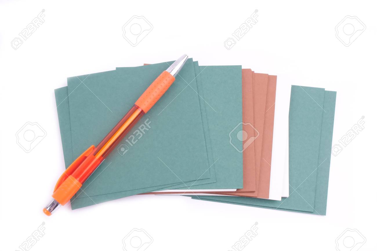 Paper for notes on a white background Stock Photo - 9744361