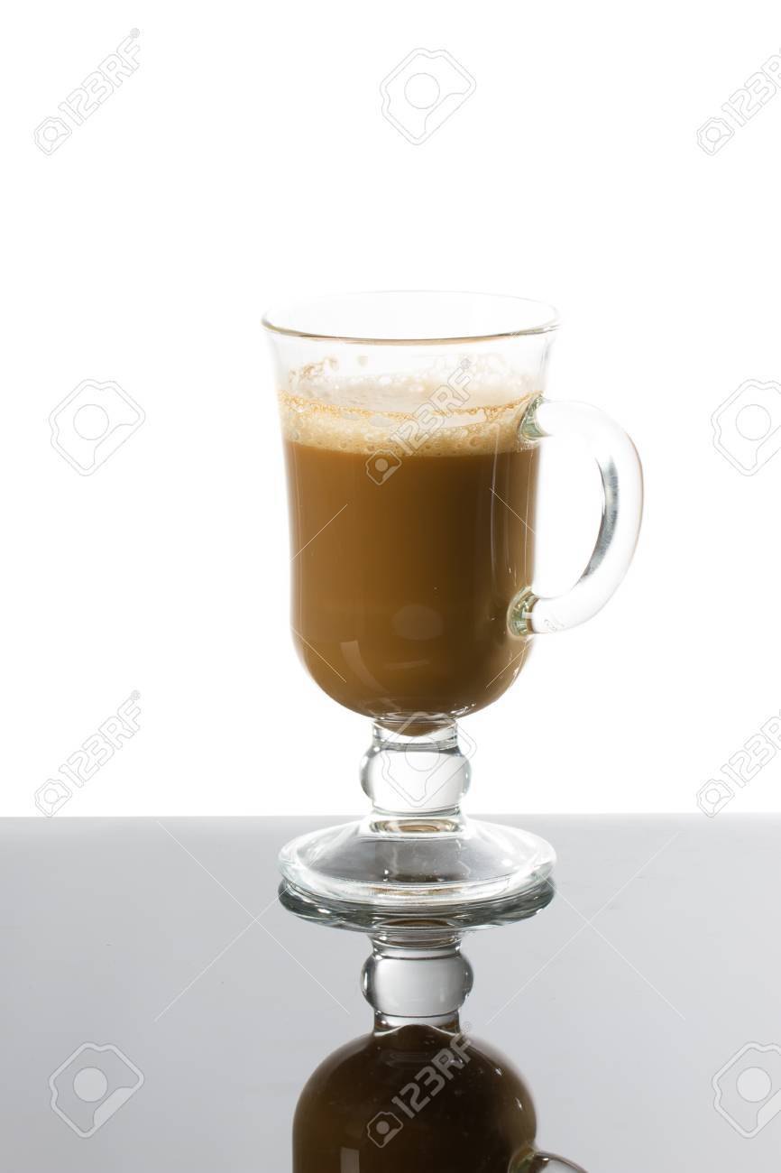 Latte Coffee Or Caffe Latte In Tall Latte Glasses With Table Stock Photo Picture And Royalty Free Image Image 43830447