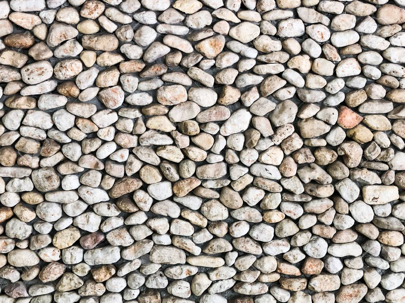 Stone pebbles for interior exterior decoration design business.