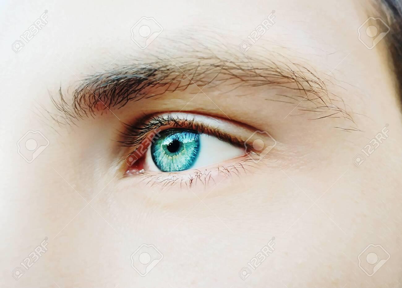 A beautiful insightful look man's eye. Close up shot - 139339987