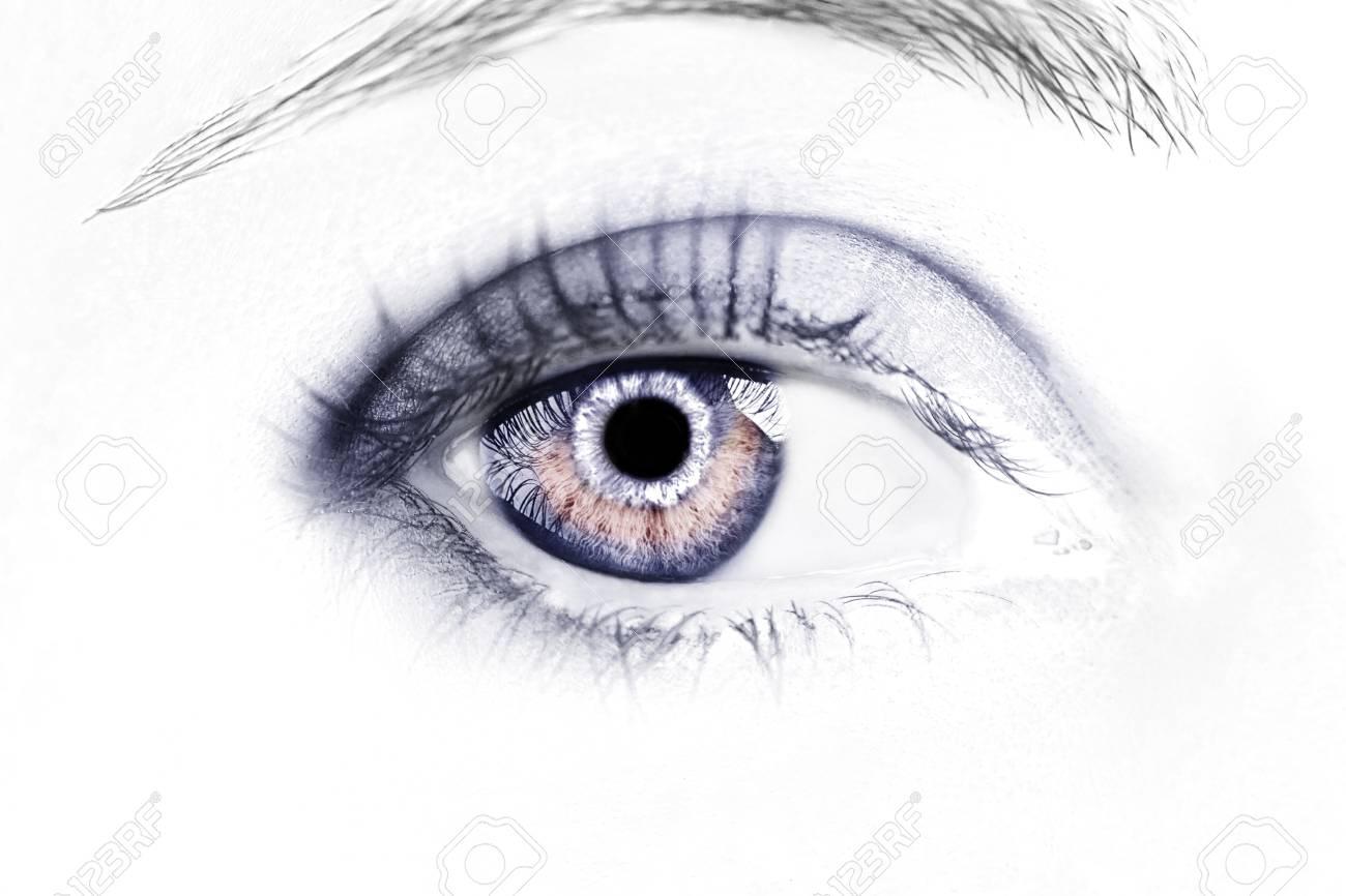 A beautiful insightful look eye. Close up shot. - 120436687