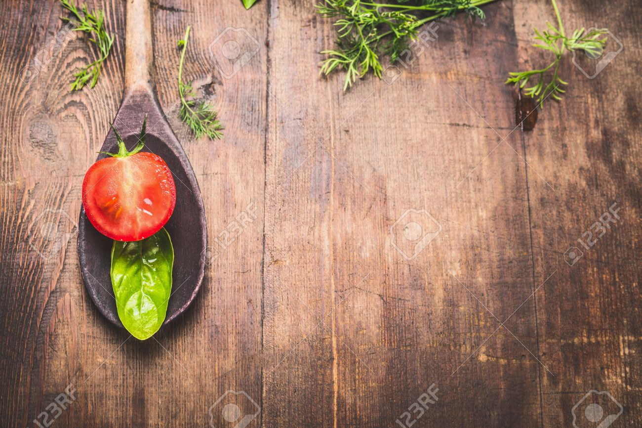 Food Background Rustic Food Background For Cooking Or Recipes With Wooden Spoon