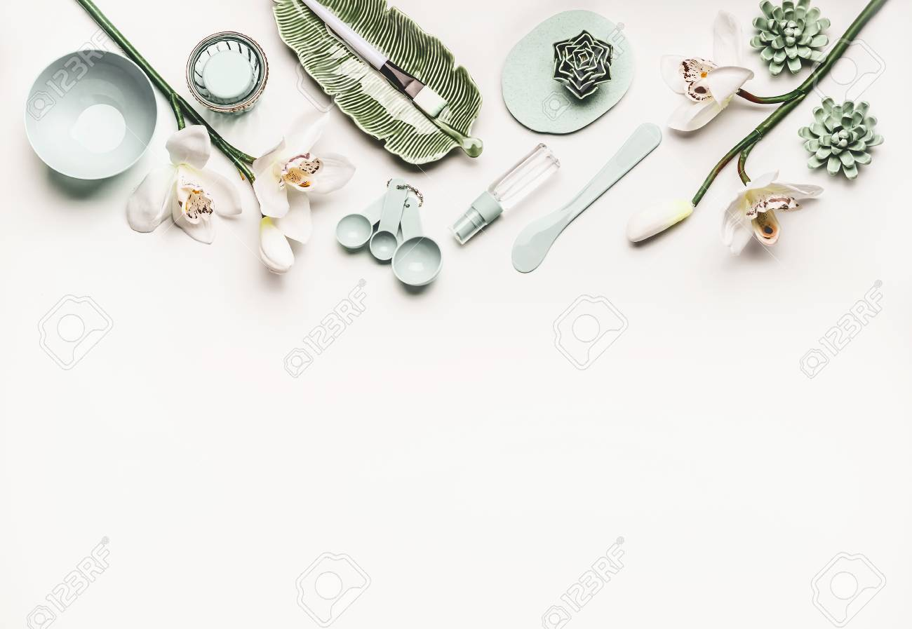 Cosmetic Skin Care Or Wellness Setting With Modern Tools And Stock Photo Picture And Royalty Free Image Image 97944043