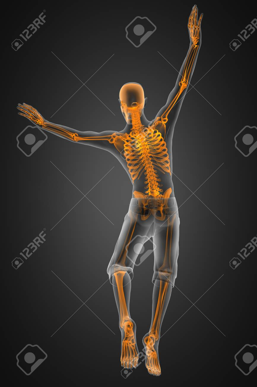 jump man radiography made in 3D Stock Photo - 12601790