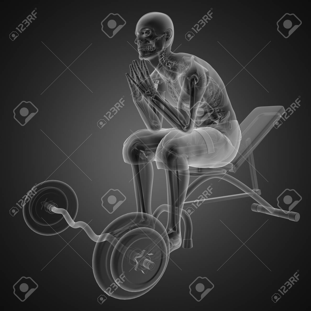 human radiography scan in gym room Stock Photo - 12601856