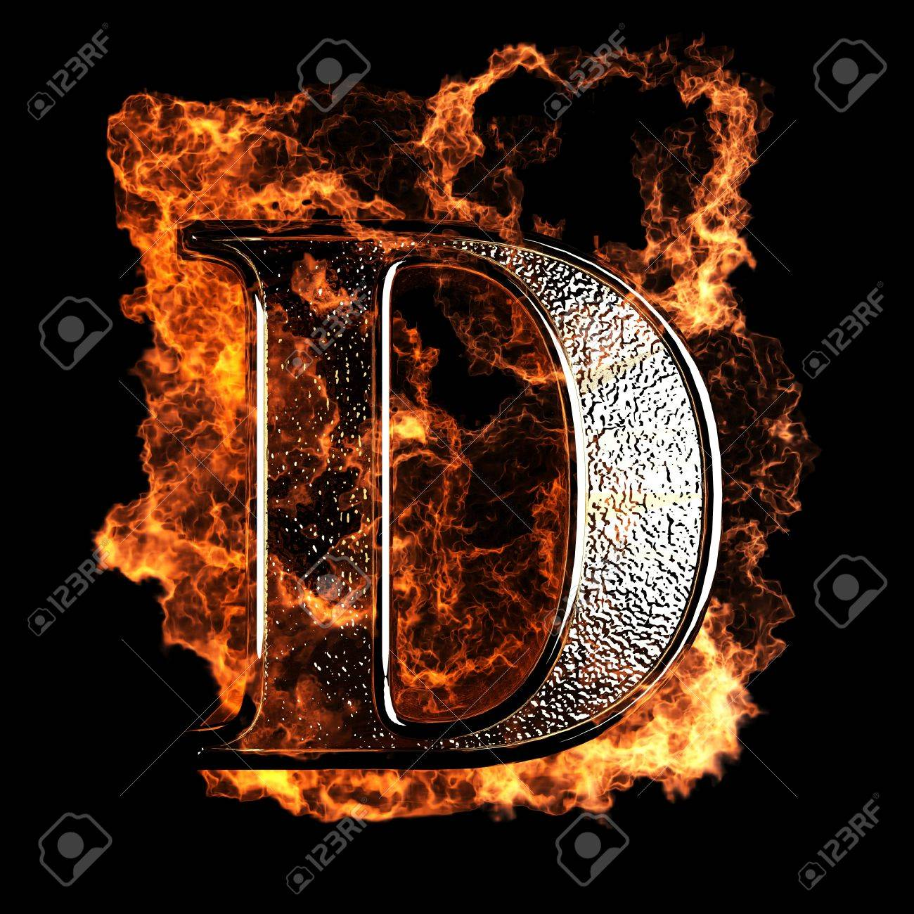 Letter d stock photos royalty free letter d images burning letter made in 3d graphics thecheapjerseys Image collections