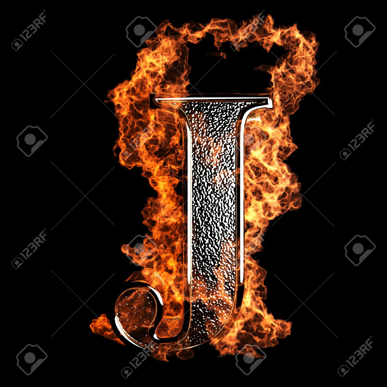 burning Letter made in 3D graphics Stock Photo - 12870614