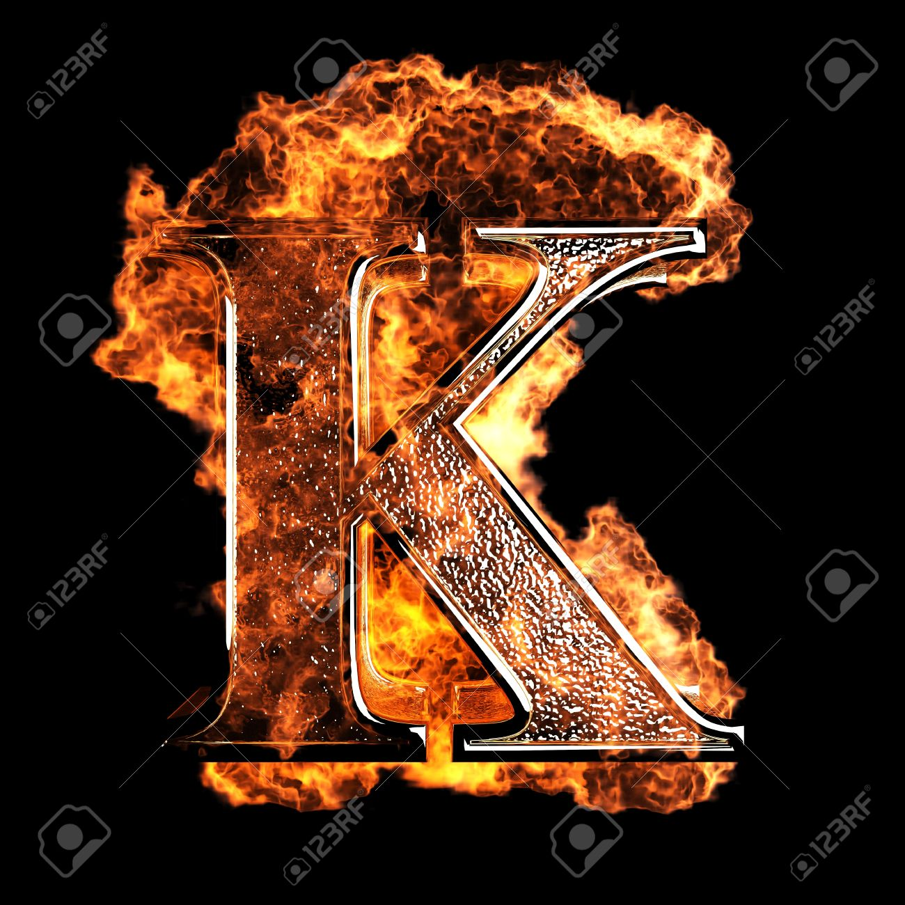burning Letter made in 3D graphics Stock Photo - 12870644