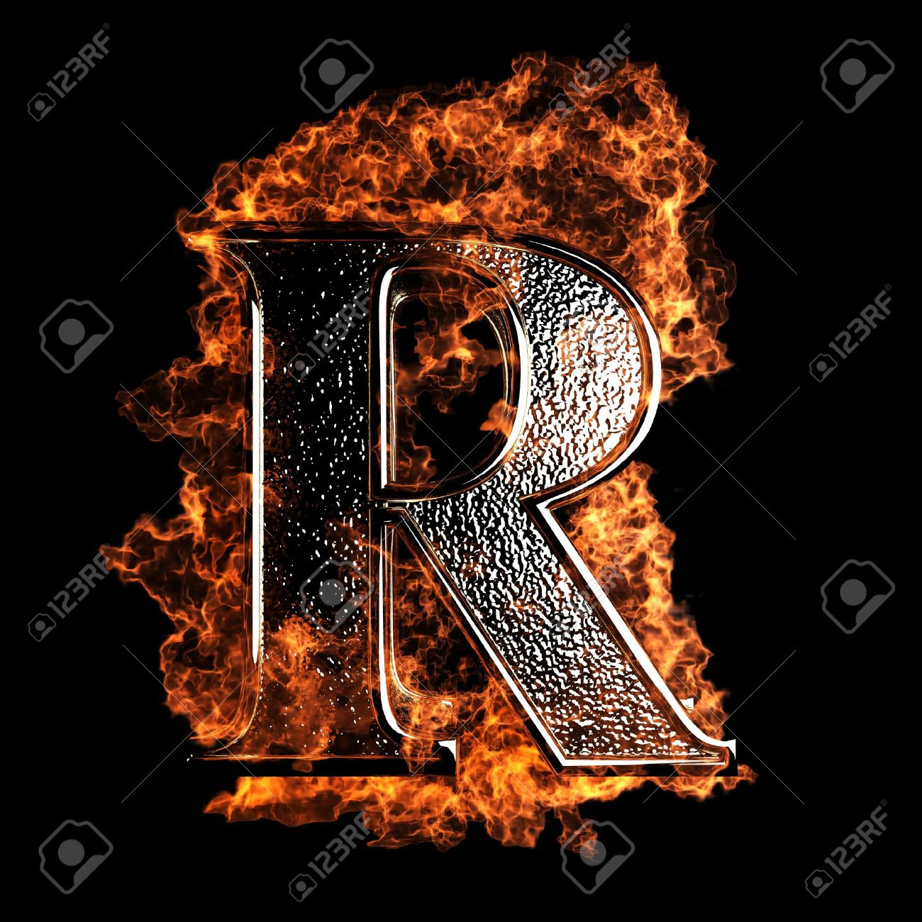 Burning letter made in 3d graphics stock photo picture and royalty burning letter made in 3d graphics stock photo 12870709 altavistaventures Image collections