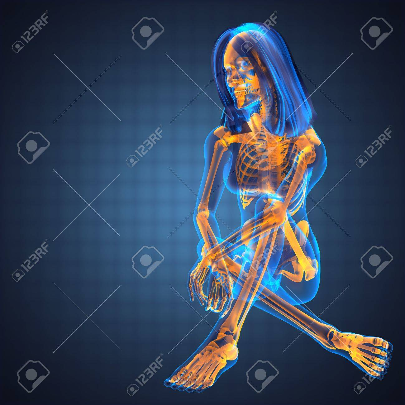 cute woman radiography made in 3D graphics Stock Photo - 12870836