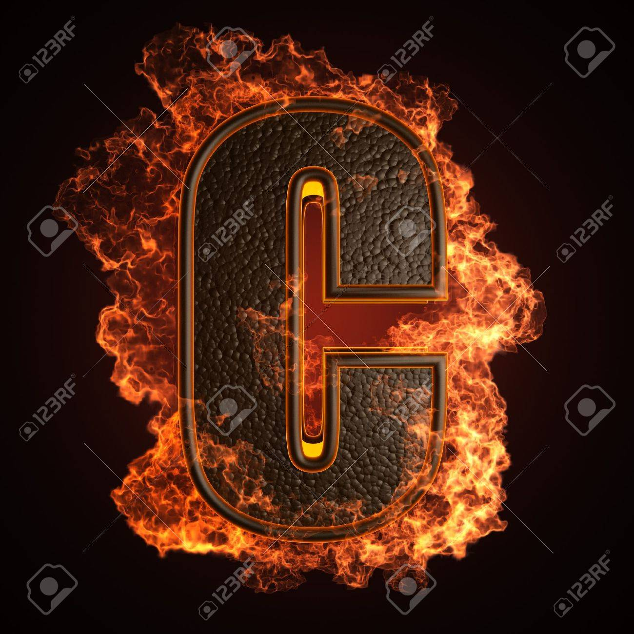 burning Letter made in 3D graphics Stock Photo - 12964072