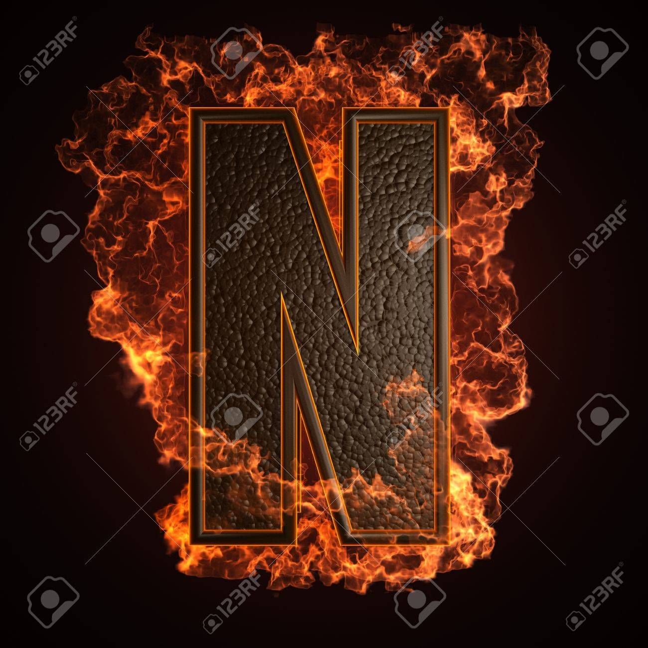 burning Letter made in 3D graphics Stock Photo - 12964075