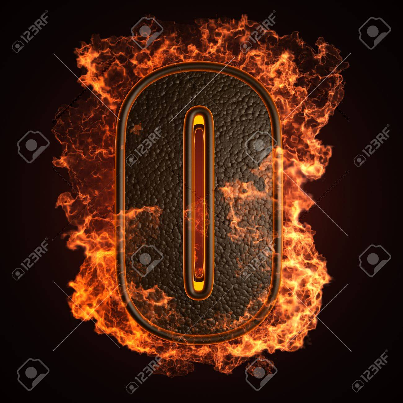 burning Letter made in 3D graphics Stock Photo - 12964076