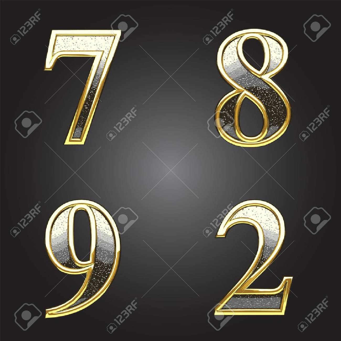 Golden and silver vector figure Stock Vector - 13292165