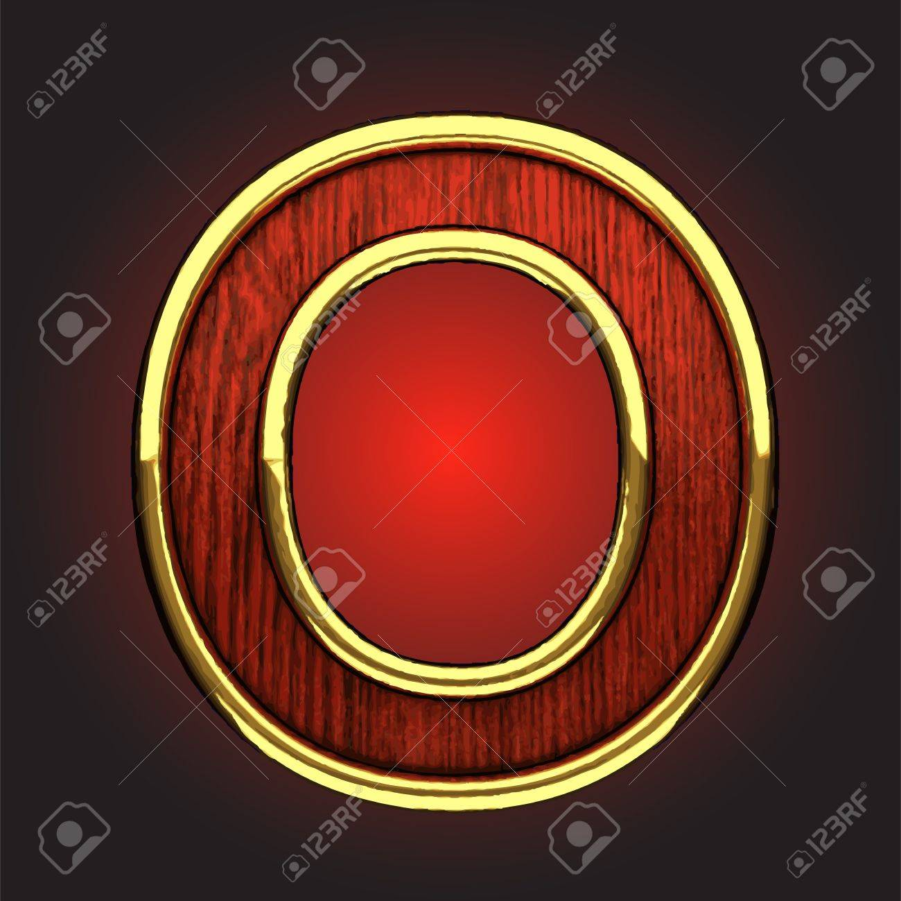 golden figure with red wood Stock Vector - 13648608
