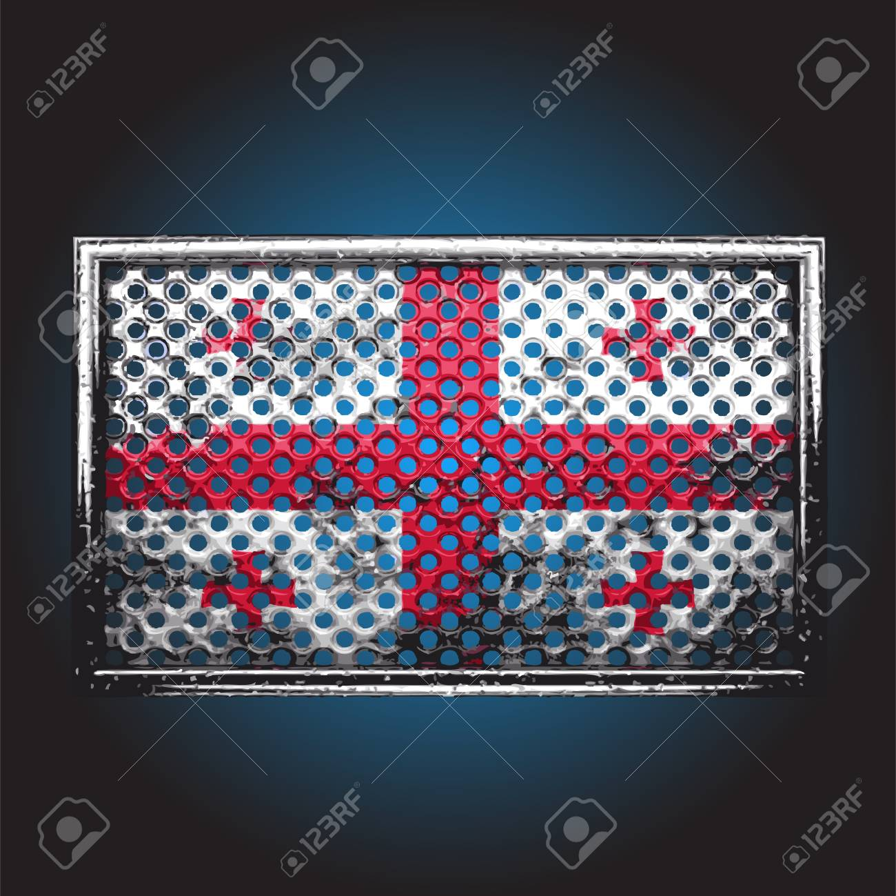 flag on old metal made in vector Stock Vector - 13716149
