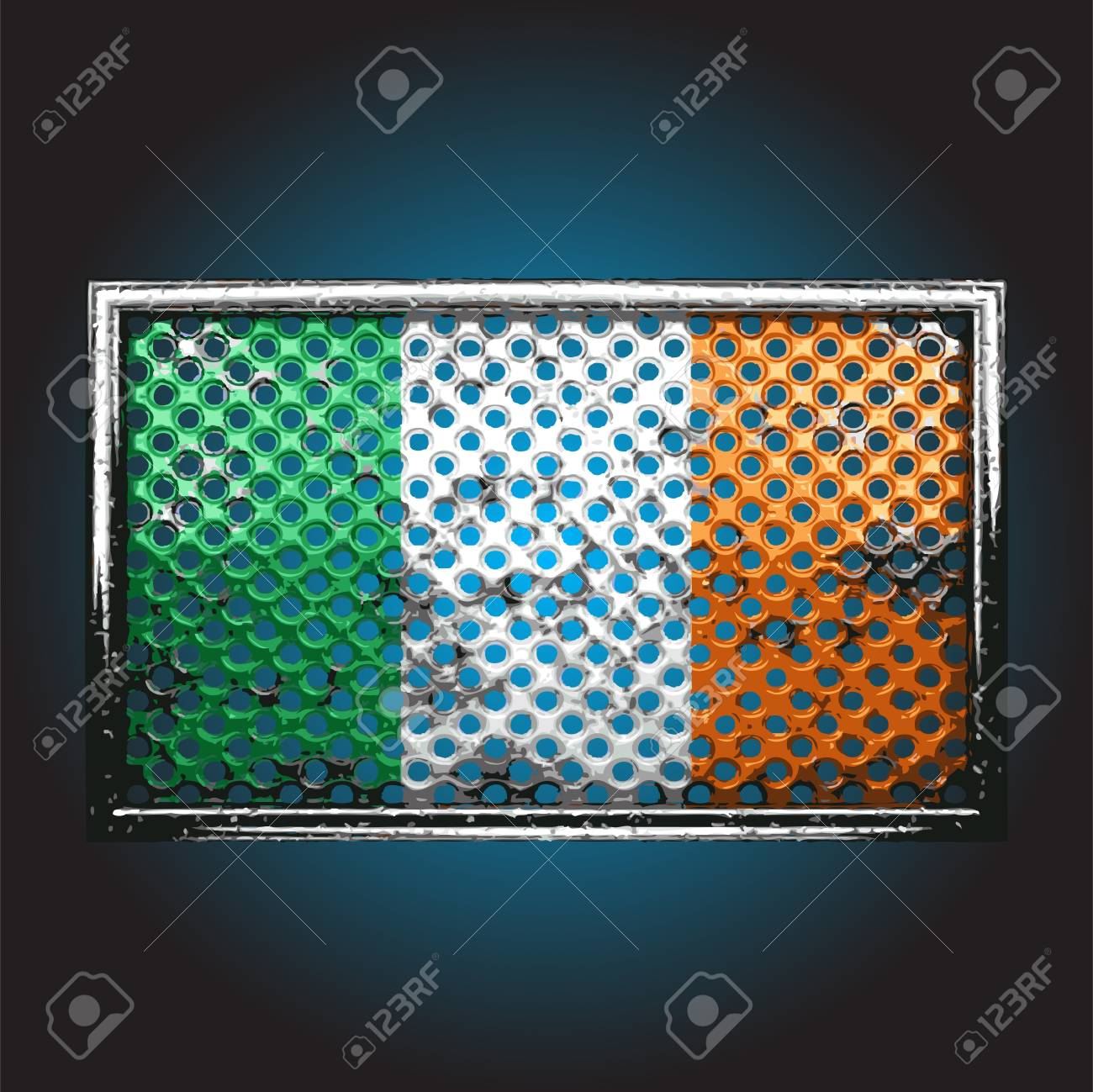 flag on old metal Stock Vector - 13716102
