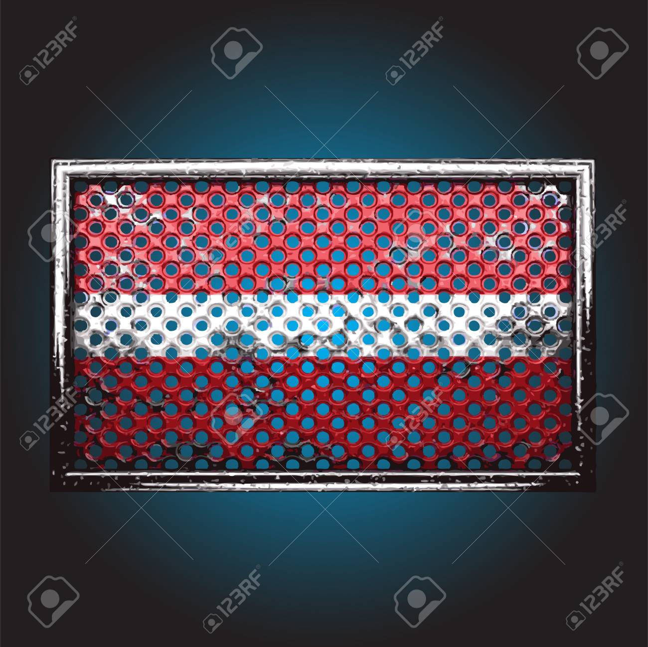 flag on old metal made in vector Stock Vector - 13734146