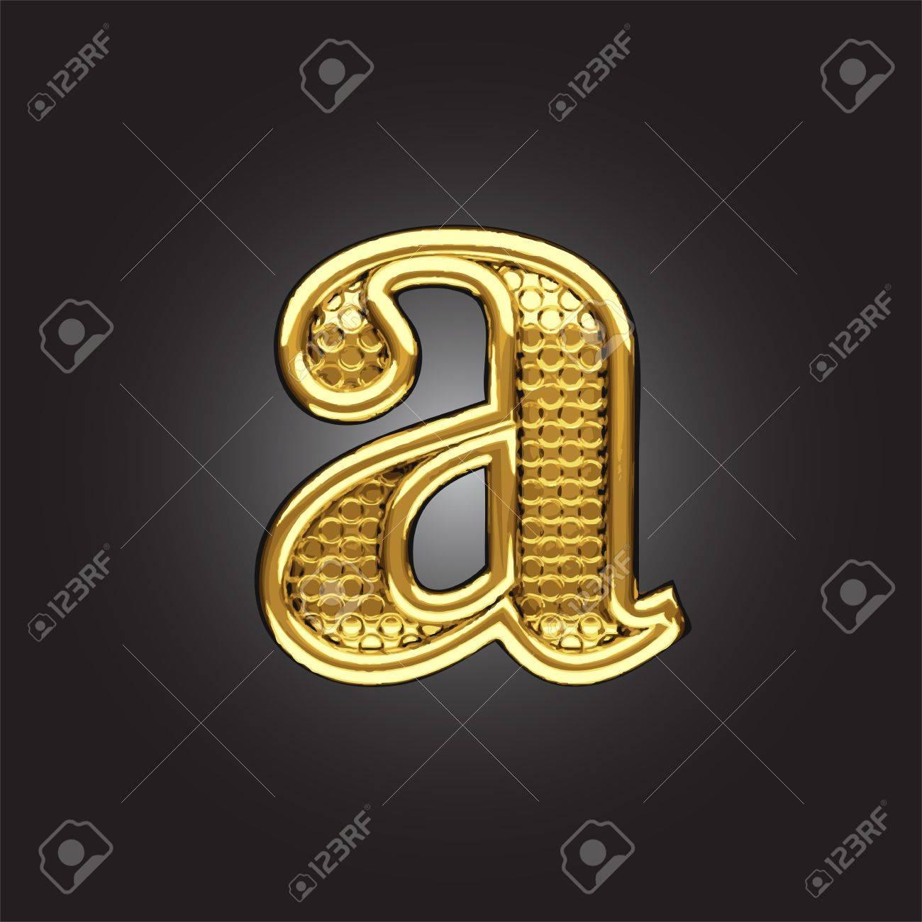 golden figure made in vector Stock Vector - 13811590