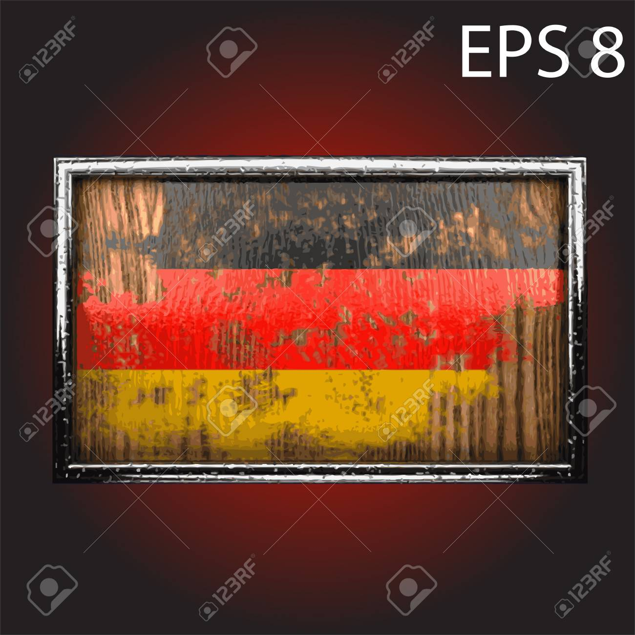 flag on old wood made Stock Vector - 13853502