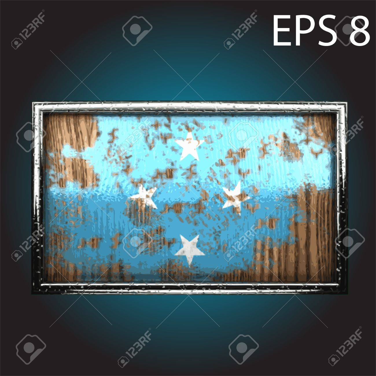 flag on old wood made Stock Vector - 13853578